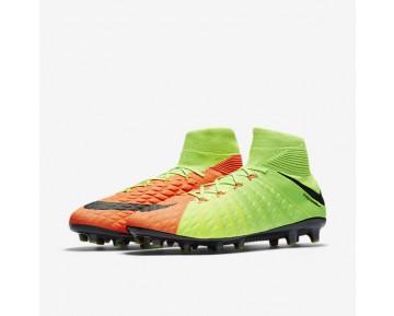 Chaussure Nike Hypervenom Phantom 3 Df Ag-Pro Pour Homme Football Vert Électrique/Hyper Orange/Volt/Noir_NO. 852550-308