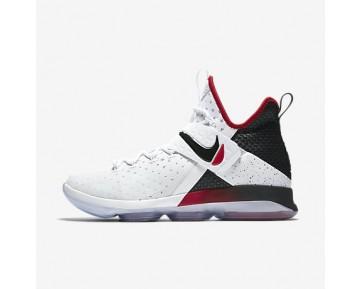 Chaussure Nike Lebron Xiv Pour Homme Basketball Blanc/Rouge Université/Noir_NO. 852405-103