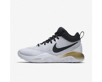 Chaussure Nike Zoom Rev 2017 Pour Homme Basketball Blanc/Or Métallique/Platine Pur/Noir_NO. 852422-107