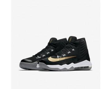 Chaussure Nike Air Max Audacity 2016 Pour Homme Basketball Noir/Gris Foncé/Gris Loup/Or Métallique_NO. 843884-010