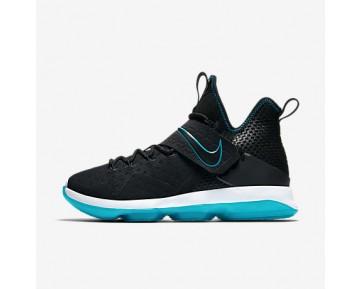 Chaussure Nike Lebron Xiv Pour Homme Basketball Noir/Bleu Verre/Noir_NO. 943323-002