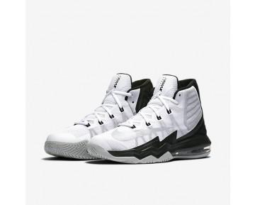 Chaussure Nike Air Max Audacity 2016 Pour Homme Basketball Blanc/Noir/Gris Loup/Argent Réfléchissant_NO. 843884-100