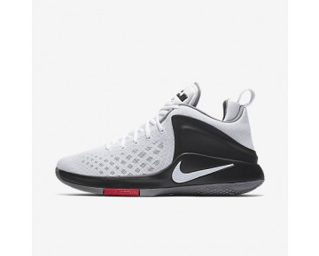 Chaussure Nike Lebron Witness Pour Homme Basketball Blanc/Noir/Gris Froid/Blanc_NO. 852439-100